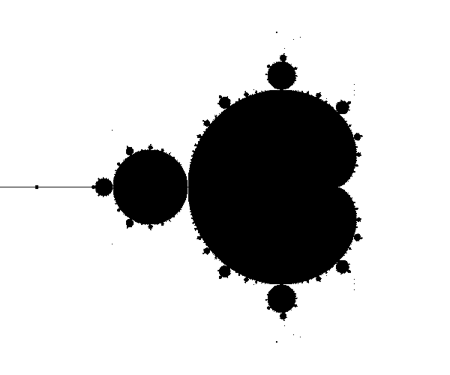The Mandelbrot set.