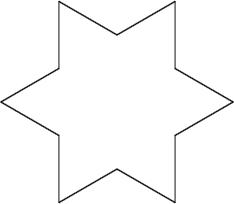 Koch Snowflake, 1st iteration.