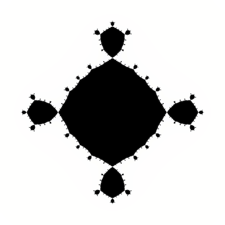 A fourth degree Julia set, centered at -1.