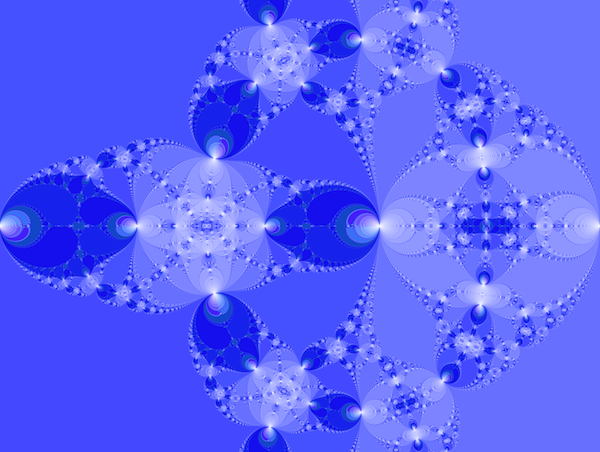 A rendering of a Newton fractal.  See http://yozh.org/2012/10/02/newton_fractals/ for details.