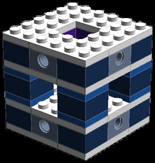 A Menger sponge module.