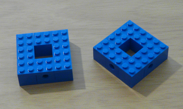 The top and bottom of the basic module.